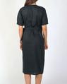 TIa wrap linen dress kale B