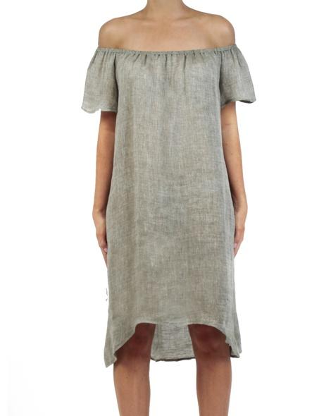 Roma dress khaki front