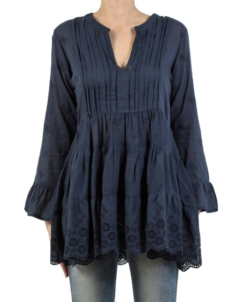 Neve Embroided Tunic Navy front copy