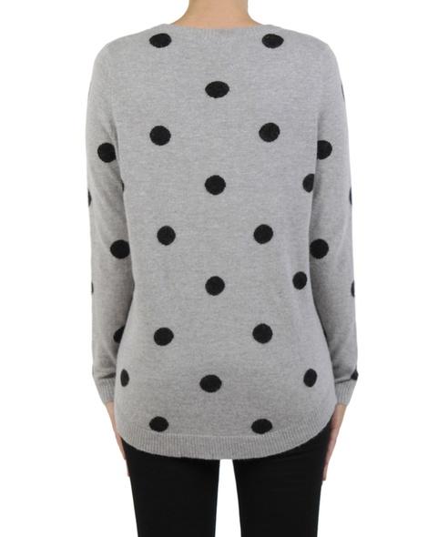 Sia Spotty Knit silver black back copy