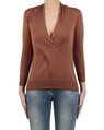 Carrie Wrap Knit tobacco front copy