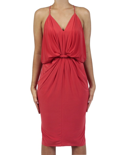 Hayden Dress red front tied