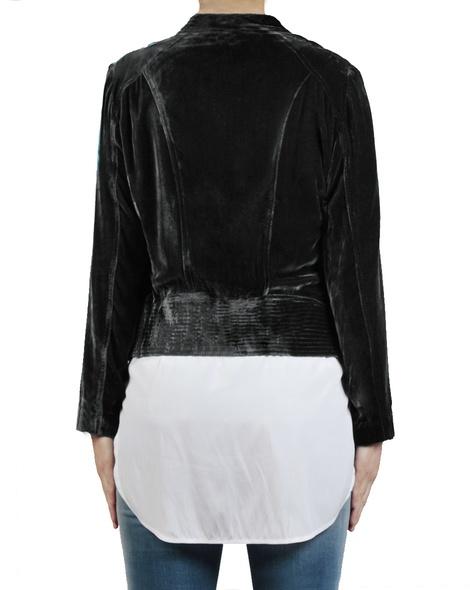 Silk Velvet Bomber black back