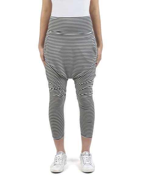 Stripey kerrie pant black white front copy