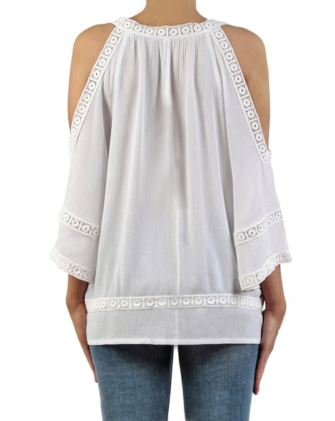 Misha top white back