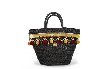Straw Bag black A