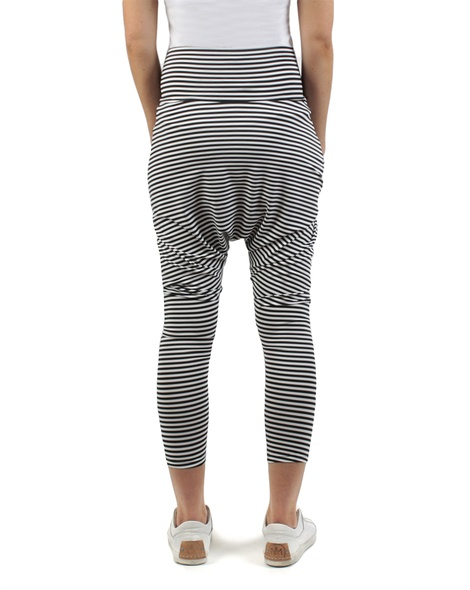 Stripey kerrie pant black white back copy