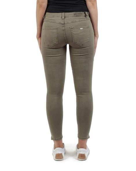 high waist skinny zip jean olive back