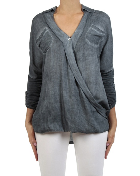 Danah top charcoal sleeves