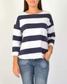 Stripe pullover navy A