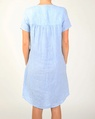 Linen cap sleeve dress blue B