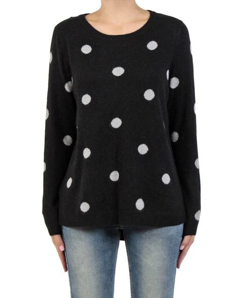 Sia spotty knit black front
