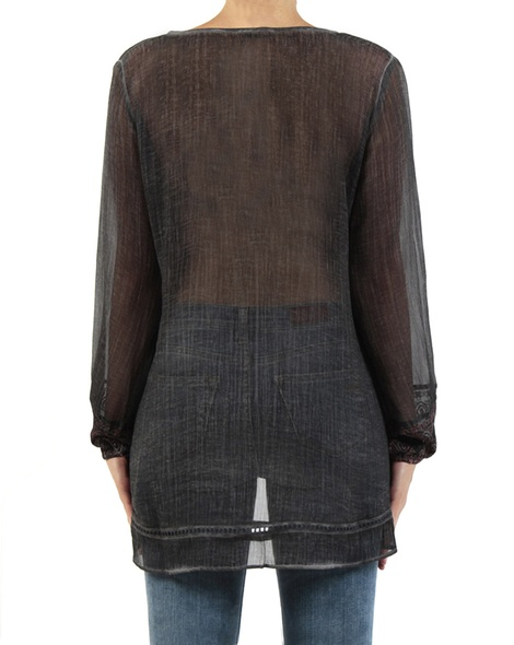 Vera top charcoal back