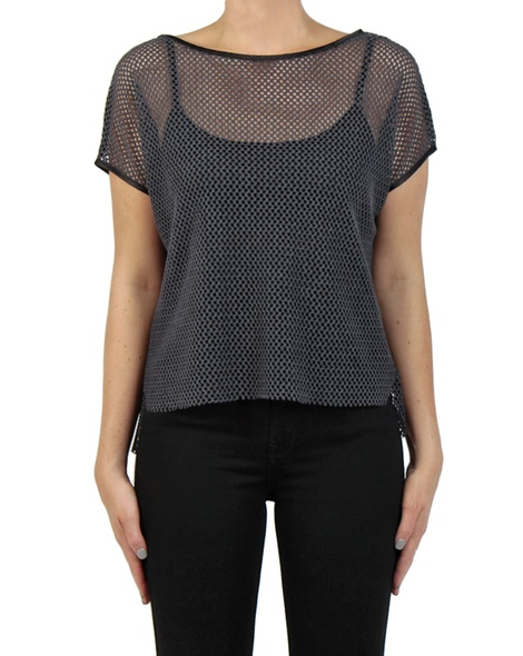 Marlow knit charcoal front