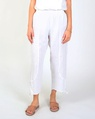 Rouched hem pant white A