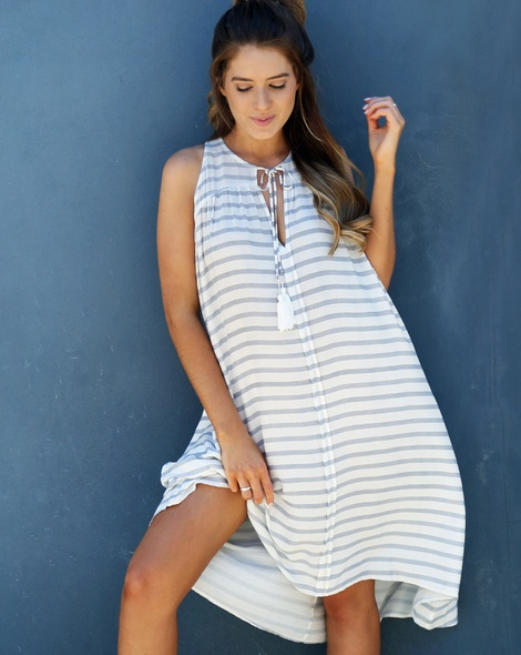 Stripey Ziggy Dress