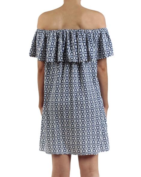 Hibiscus dress blue back copy