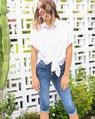 Cyanite jeans siesta top white (63)