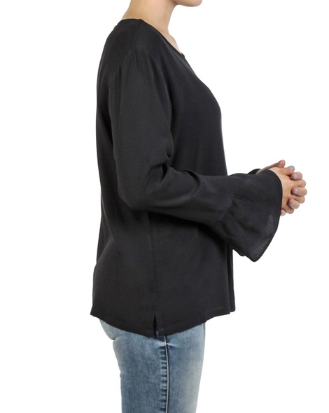 Shea frill top black side