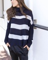 Paige stripey knit navy (30)