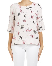 Floral Sia Frill Top