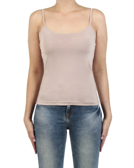 Basic cami nude front