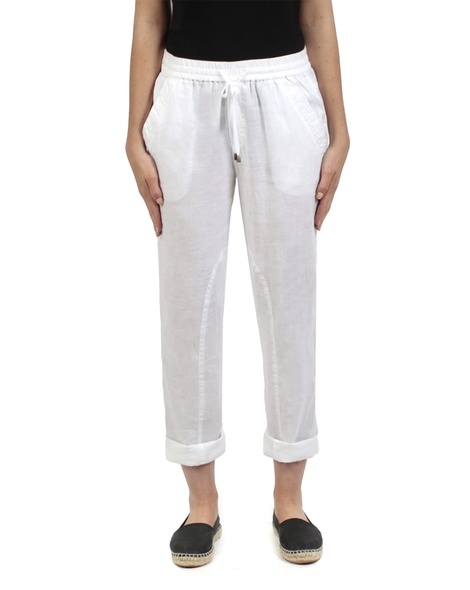 Elliot linen pant white front rolled copy