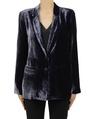 Silk velvet blazer charcoal A