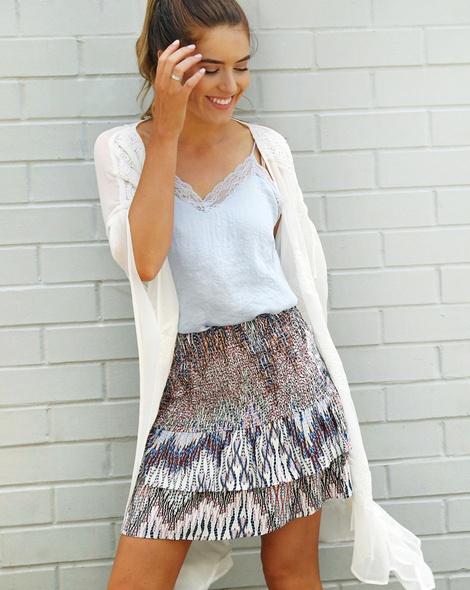 Tori kimono + tribal ivy skirt + shiona lace cami (6)