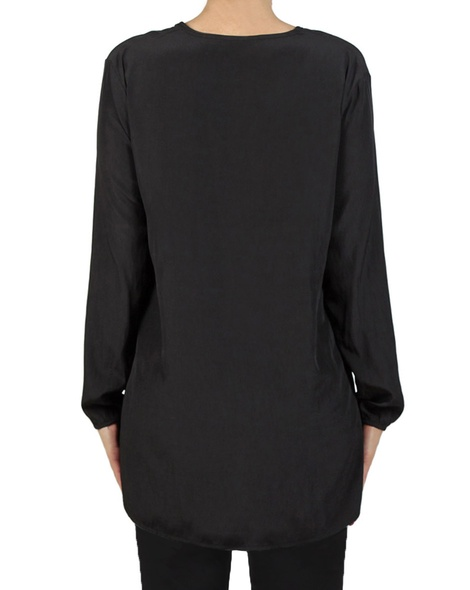 Muriel Top black back blk pants