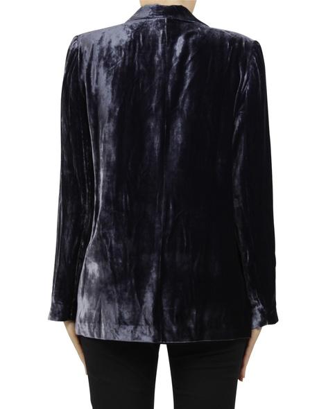 Silk velvet blazer charcoal B