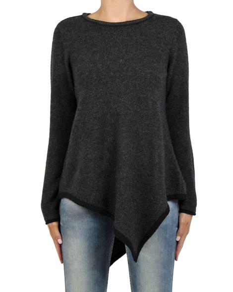 Ava assymetric knit charcoal front copy