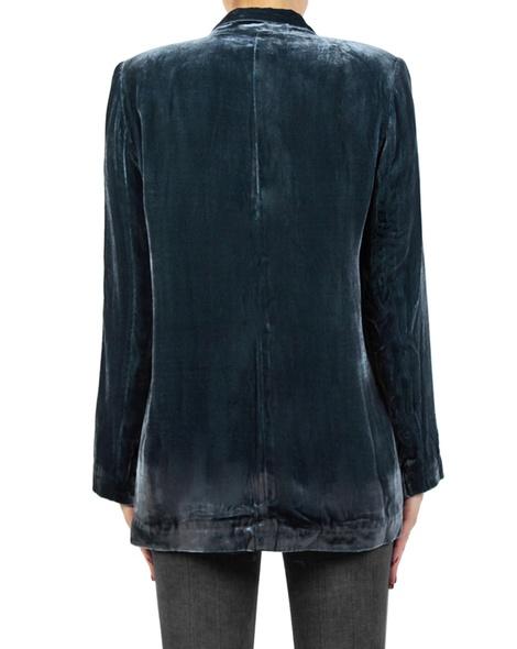 Silk velvet blazer blue back copy