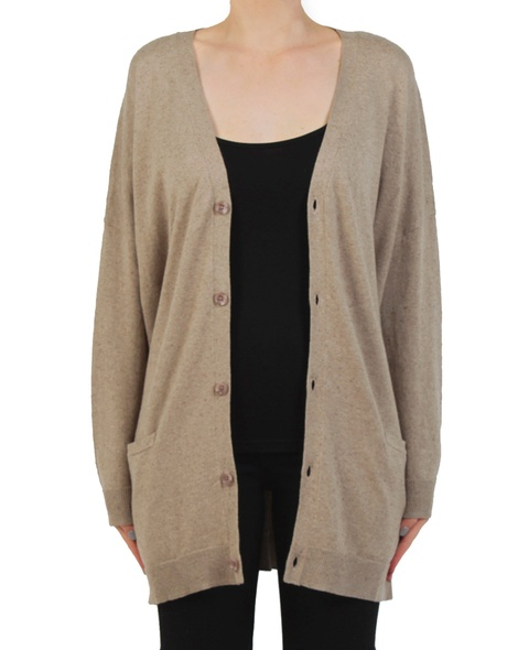 Grandpa cardigan sand front open
