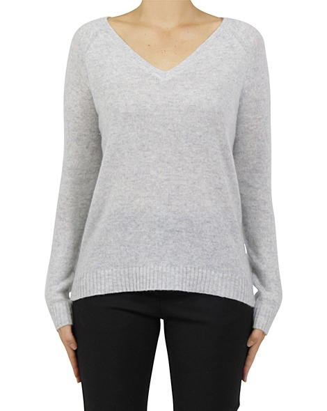 Luxe cashmere sweater silver A