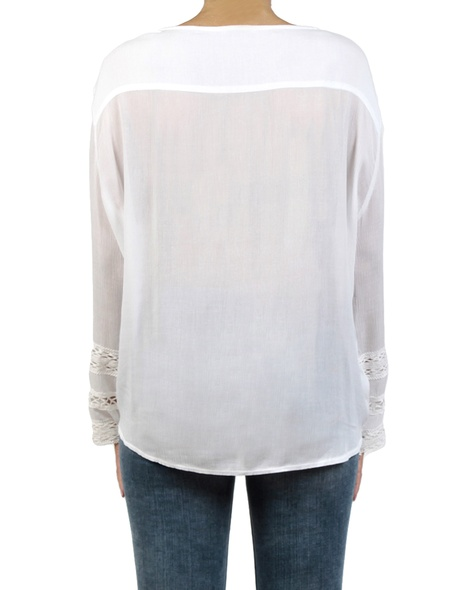 Leila top white back