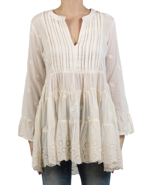 Neve Embroided Tunic Vanilla front copy