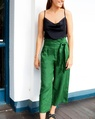 Clarie linen pant green cowl neck cami (10)