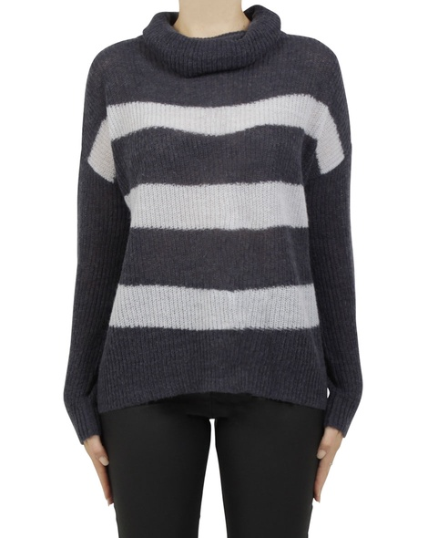 paige stripey knit navy A