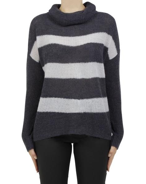 paige stripey knit navy A