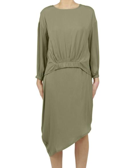 Allegra dress Vivienne top Khaki A col change
