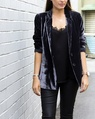 Silk velvet blazer charcoal florence cami (44)
