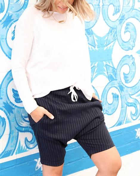 Stripey marlee shortdiver knit white (33)