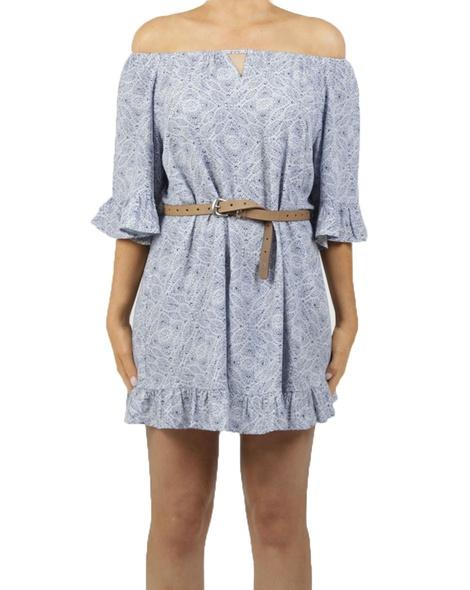 Palma Dress Blue Belt