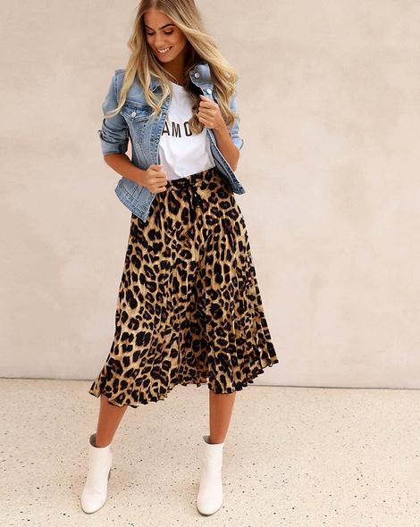 Wild one skirt denim jacket amour tee (165)