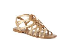 CALM - Lace Up Flat Sandal