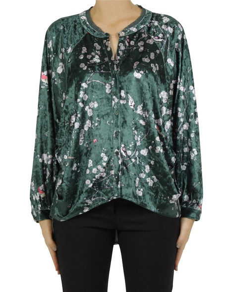 Sakura shirt green A