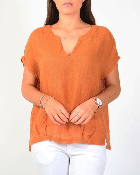 Amalfi top orange A