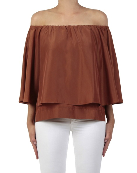 Evie top tobacco front