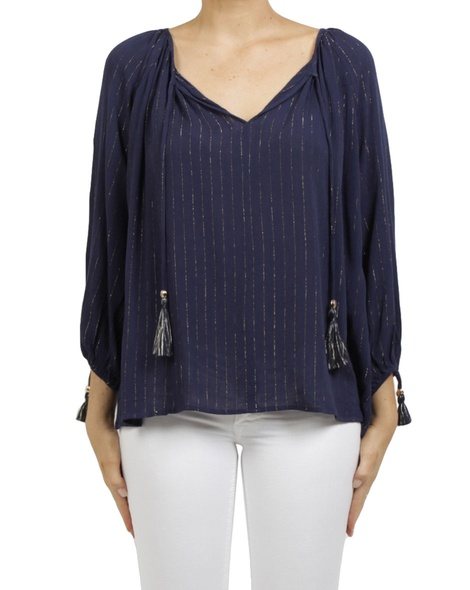 carly top navy A